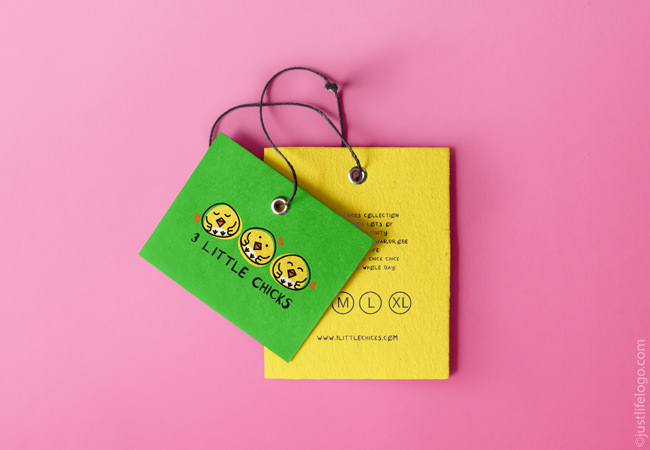 three-little-chicks-logo-for-sale-clothes-tag
