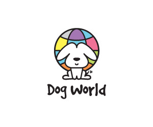 Dog World Pet Logo
