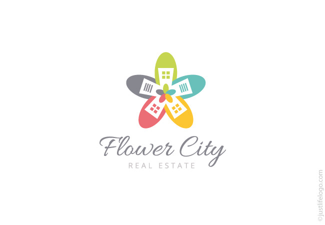 flower-city-real-estate-logo-for-sale