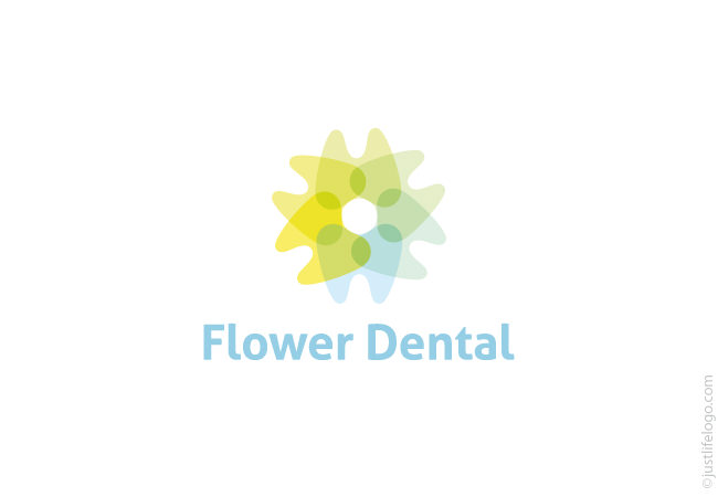 flower-dental-logo-for-sale