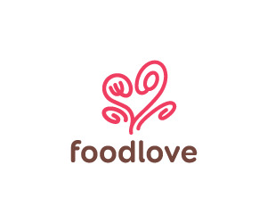 Food Love Restaurant Logo