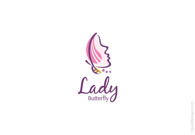 lady-butterfly-beauty-logo-for-sale