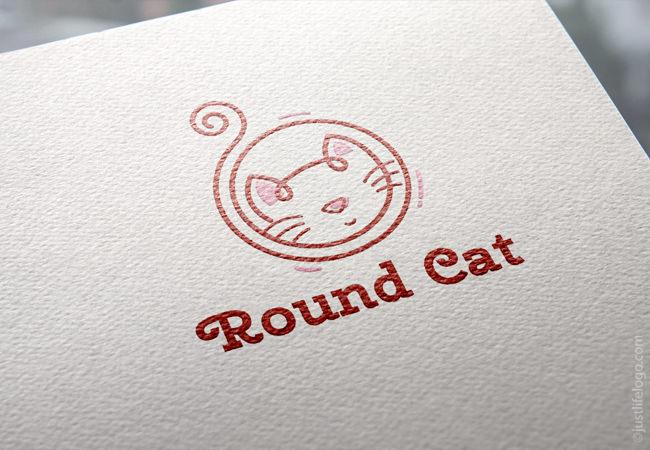 round-cat-logo-for-sale-pet