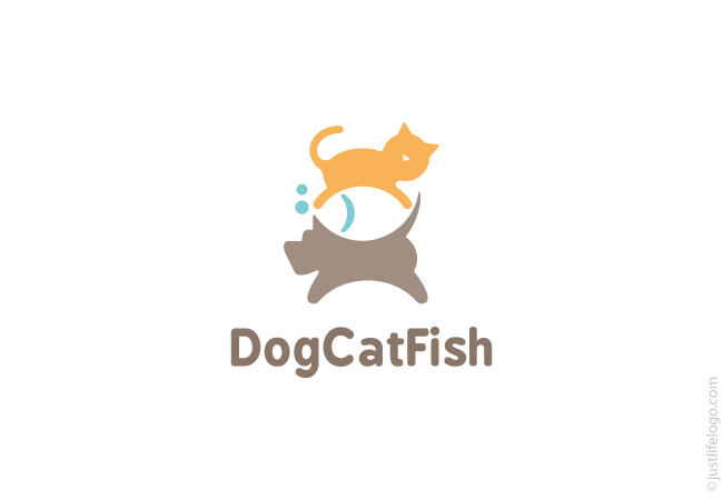 dog-cat-fish-logo-for-sale