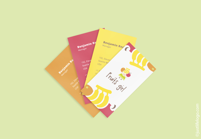 fruits-girl-logo-for-sale-business-card