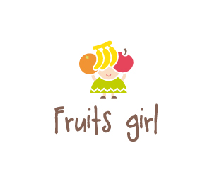 fruits-girl-logo-for-sale-small