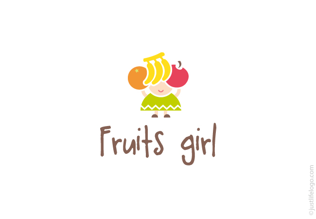 fruits-girl-logo-for-sale